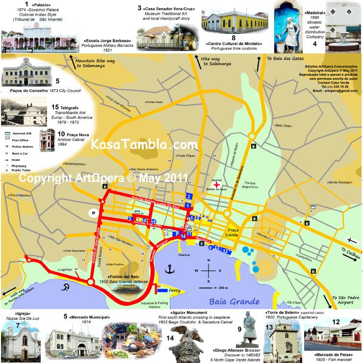 Cidade de Mindelo : My MAP, le plan de ville