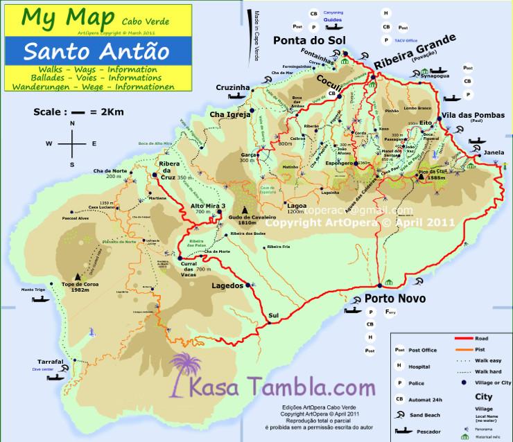 île de Santo Antão : My MAP, votre carte