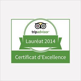 logo certificat excellence tripadvisor 2014