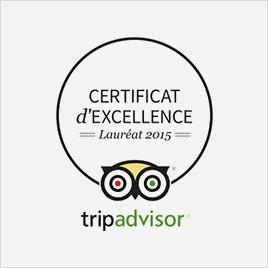 logo certificat excellence tripadvisor 2015