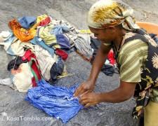 Santo Antão - La madame à laver le linge