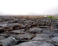 Volcan de Fogo - Coulée de l'éruption de 1995