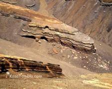 Santo Antão - Cendres volcaniques du volcan Tope Coroa